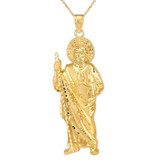 Large Gold St. Jude Pendant