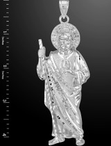 X-Large Sterling Silver St. Jude Pendant