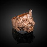 Rose Gold Diamond Cut Tiger Ring