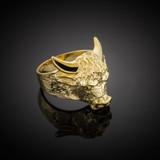 Gold Bull Taurus Ring (Large)