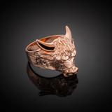 Rose Gold Bull Taurus Ring (Large)
