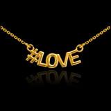 14k Gold #LOVE Necklace