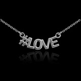 Sterling Silver #LOVE Necklace