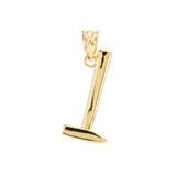 Polished Gold Sledgehammer Pendant Necklace