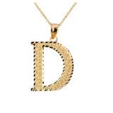 Initial D Gold Charm Pendant