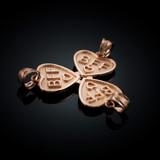 3pc Rose Gold 'BFF' Heart Pendant Set