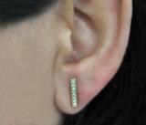 14k Yellow Gold Diamond Vertical Bar Ear Cuffs