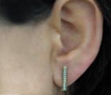 14k Yellow Gold Diamond Bar Ear Cuffs