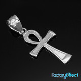 White Gold Ankh Charm Necklace