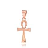 Rose Gold Ankh Charm Necklace