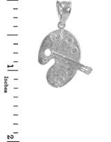 Sterling Silver Artist Palette Pendant