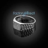 White Gold Watchband Design Baby Ring