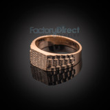 Rose Gold Watchband Design Baby Ring