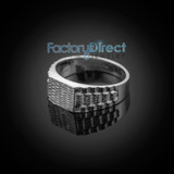 Sterling Silver Watchband Style Baby Ring