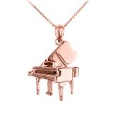 Rose Gold Grand Piano Pendant Necklace