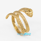 Solid Gold Rolling Snake Ring