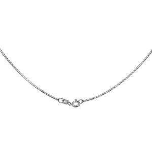 Sterling Silver Italian Round Box Link Chain 1.2 mm