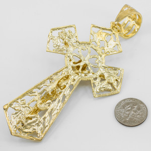 Gold Crucifix Extra Large Pendant