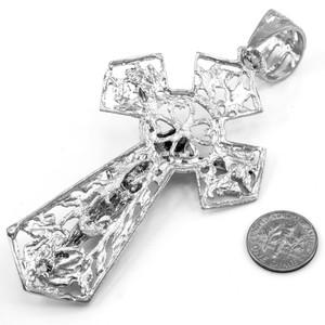 White Gold Crucifix Extra Large Pendant
