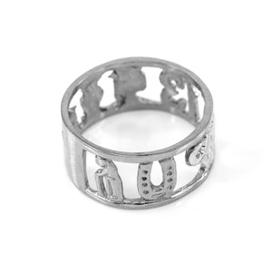 Sterling Silver Lucky 13 Ring