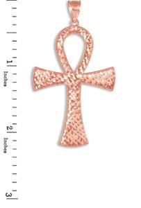 Rose Gold Egyptian Ankh Cross Pendant