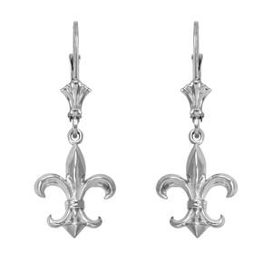 Sterling Silver Fleur-de-Lis Earrings