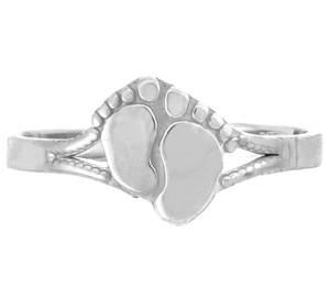 Silver Footprint Toe Ring