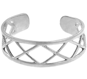 White Gold X toe Ring