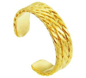 Yellow Gold Milgrain Weave Toe Ring