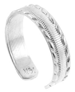 Silver Milgrain Weave Toe Ring