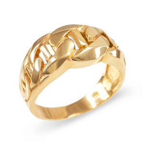 Gold Mariner Link Chain Ring