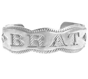 White Gold BRAT Toe Ring