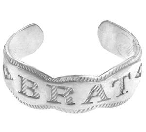 Silver BRAT Toe Ring