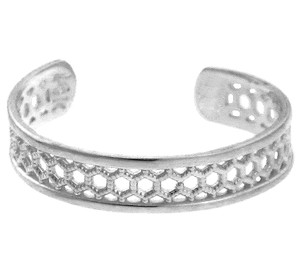 Silver Chainmill Toe Ring