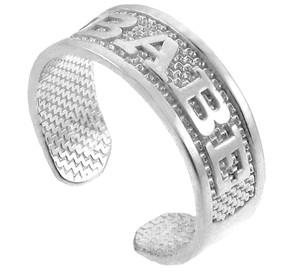 White Gold BABEToe Ring