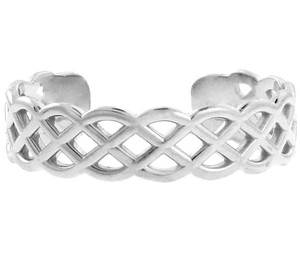 White Gold Trinity Knot Toe Ring