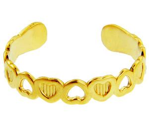 Heart Yellow Gold Toe Ring