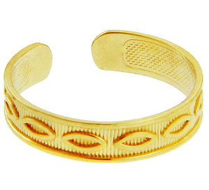 Marquis Yellow Gold Toe Ring