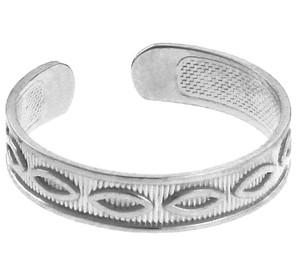 Marquis White Gold Toe Ring