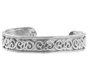 Fancy Floral Silver Toe Ring