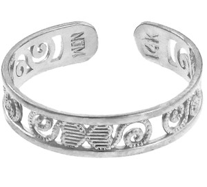 Classy Silver Toe Ring