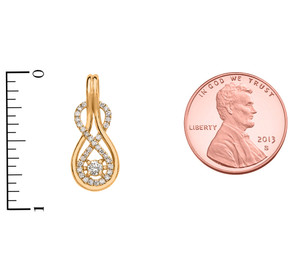 14k Diamond Infinity Yellow Gold Pendant Necklace