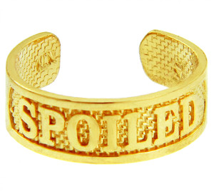 """SPOILED"" Yellow Gold Toe Ring"