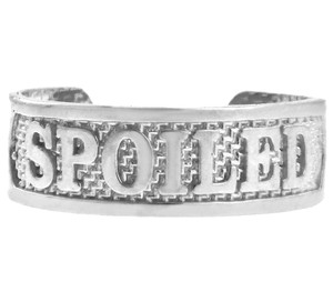 """SPOILED"" Silver Toe Ring"