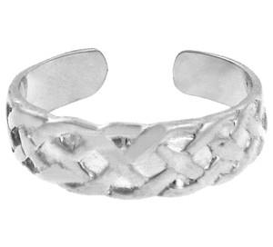 Bold White Gold Trinity Knot Toe Ring
