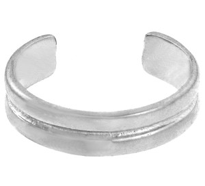 Double Classic Silver Toe Ring