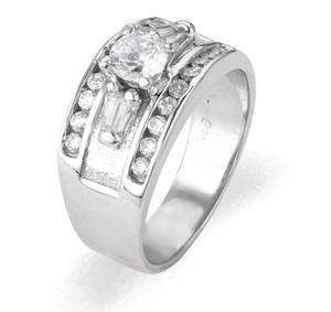 Ladies Cubic Zirconia Ring - The Acacia Diamento