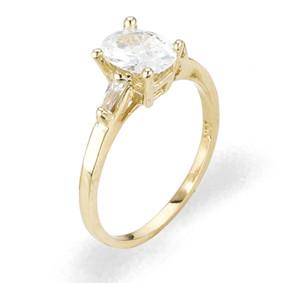 Ladies Cubic Zirconia Ring - The Yelena Diamento