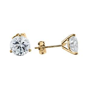 10K Yellow Gold CZ Martini Stud Earrings
