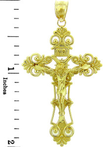 Yellow Gold Crucifix Pendant - The Savior Crucifix